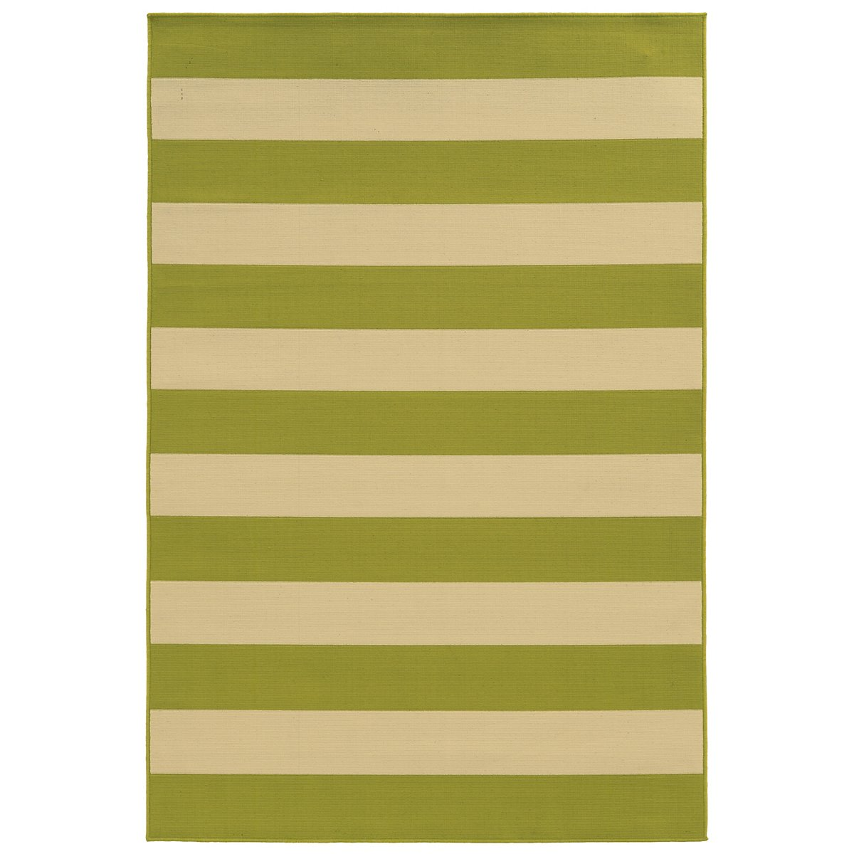 Riviera Green Indoor/Outdoor 8x11 Area Rug