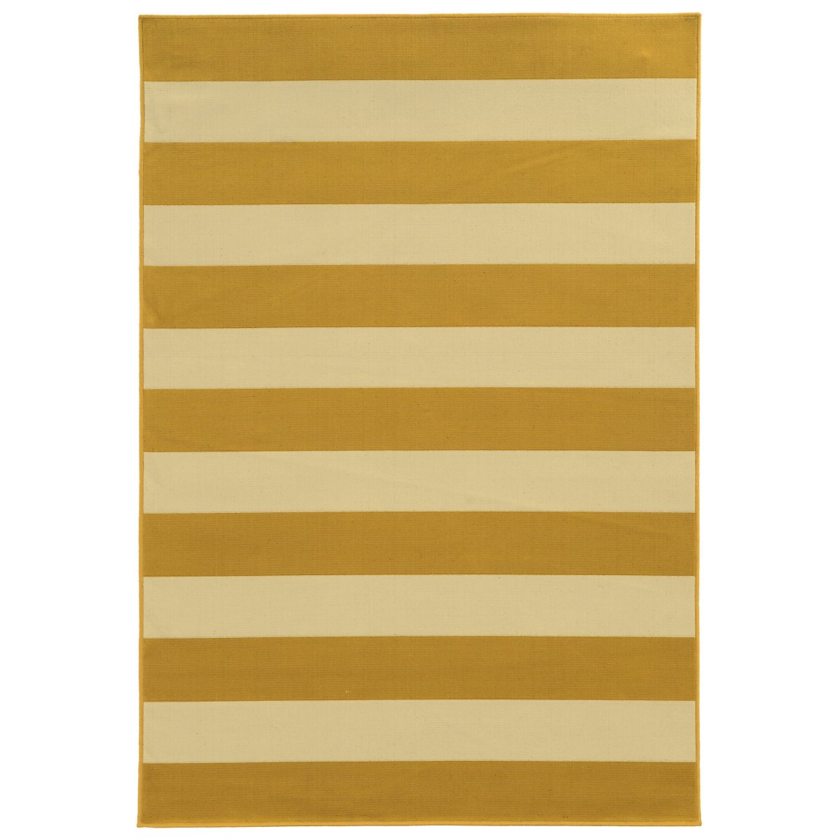 Riviera Yellow Indoor/Outdoor 5x8 Area Rug