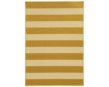 Riviera Yellow Indoor/Outdoor 8x11 Area Rug