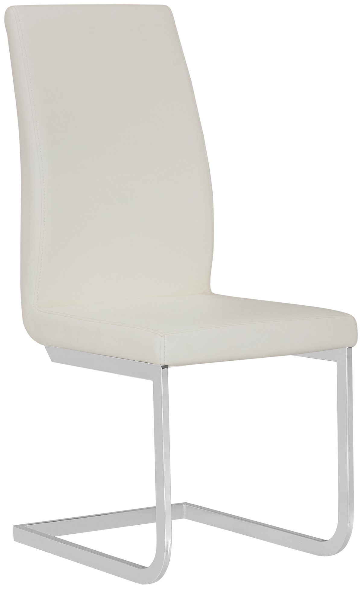 City Furniture Harley White Glass Table & 4 Upholstered Chairs