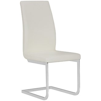 Axel White Upholstered Side Chair