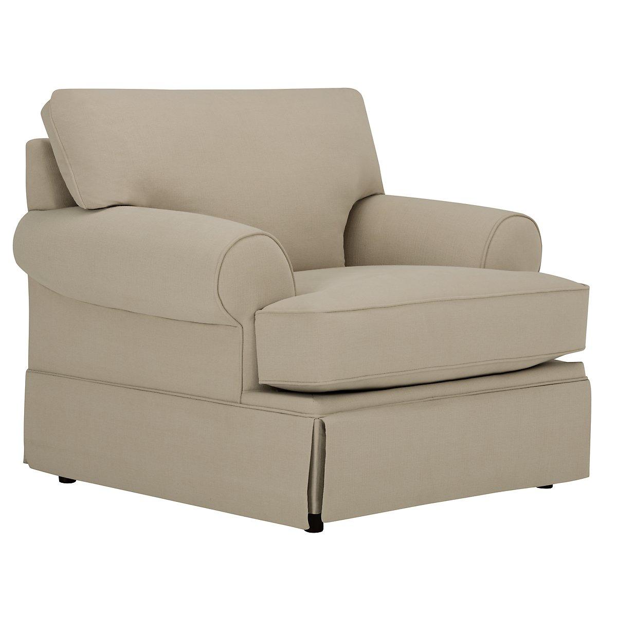 Kylie Dark Taupe Cotton Chair