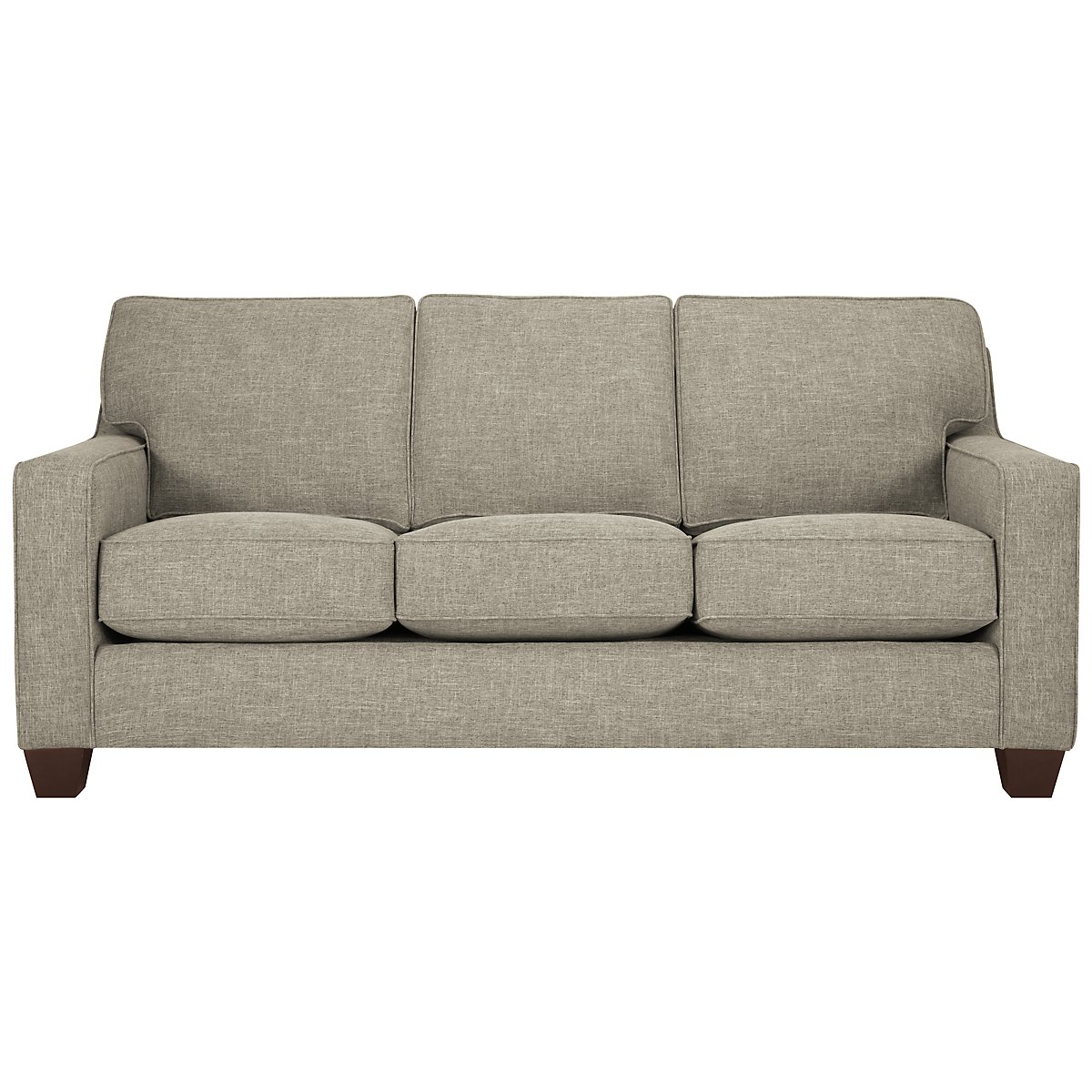 York Pewter Fabric Sofa