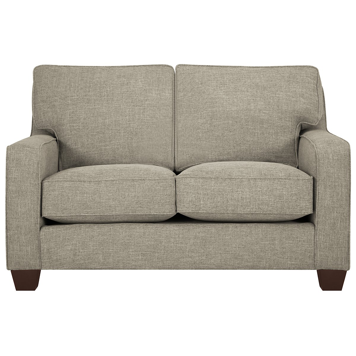 York Pewter Fabric Loveseat