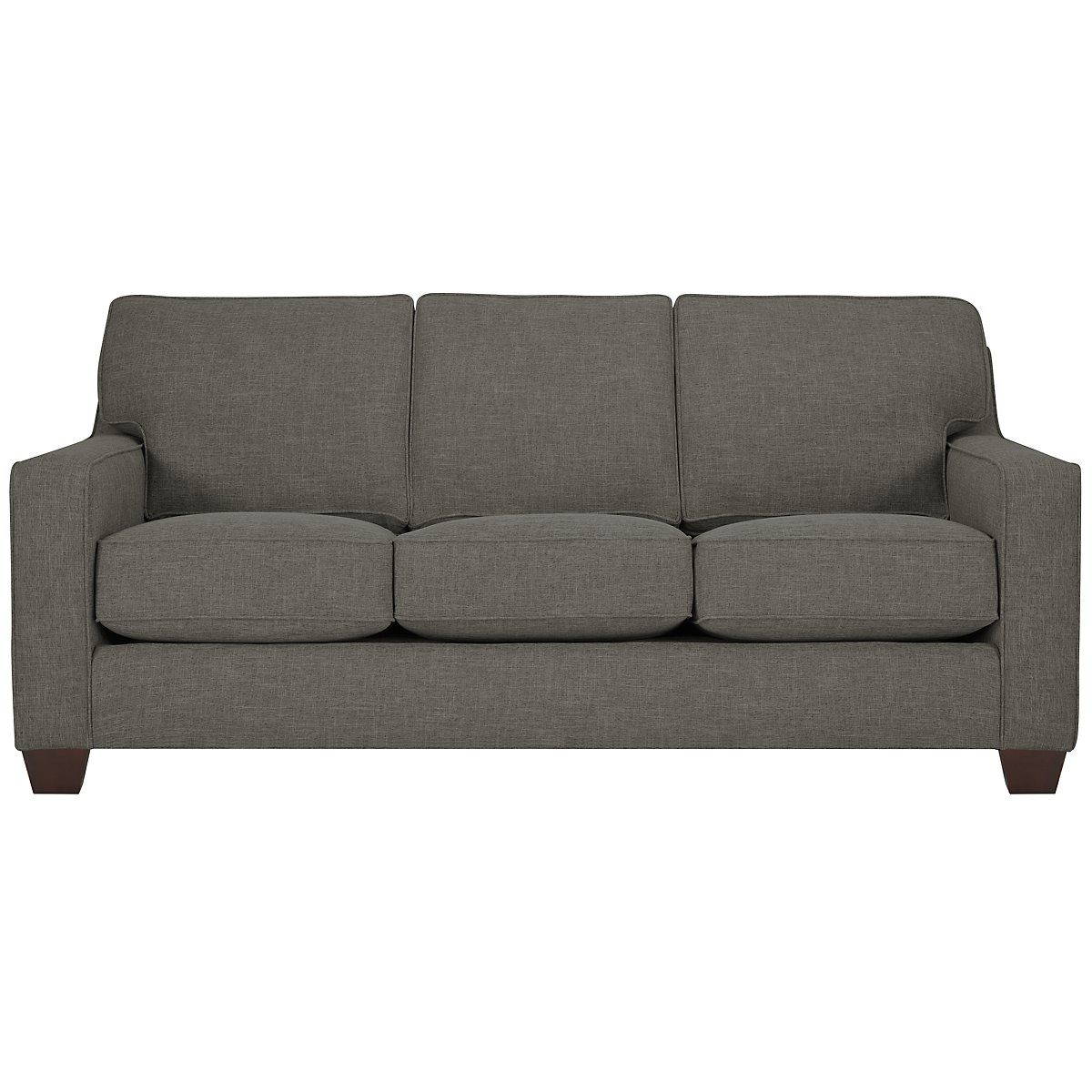 York Dark Gray Fabric Sofa