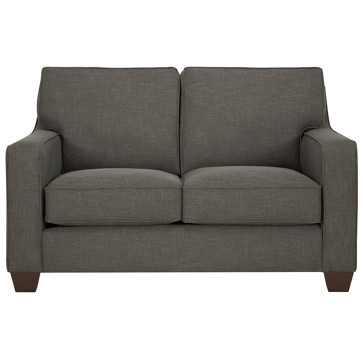 York Dark Gray Fabric Loveseat