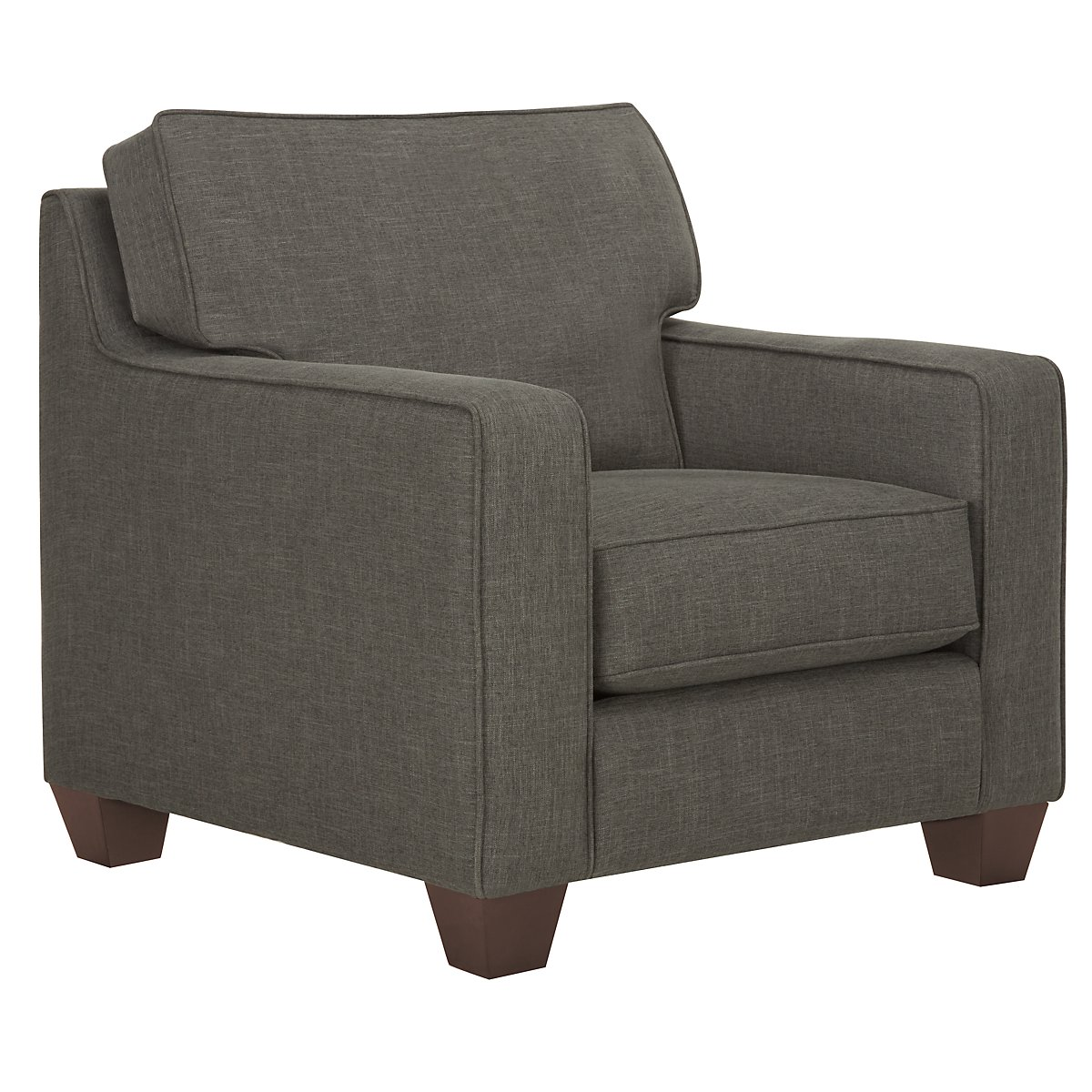 York Dark Gray Fabric Chair
