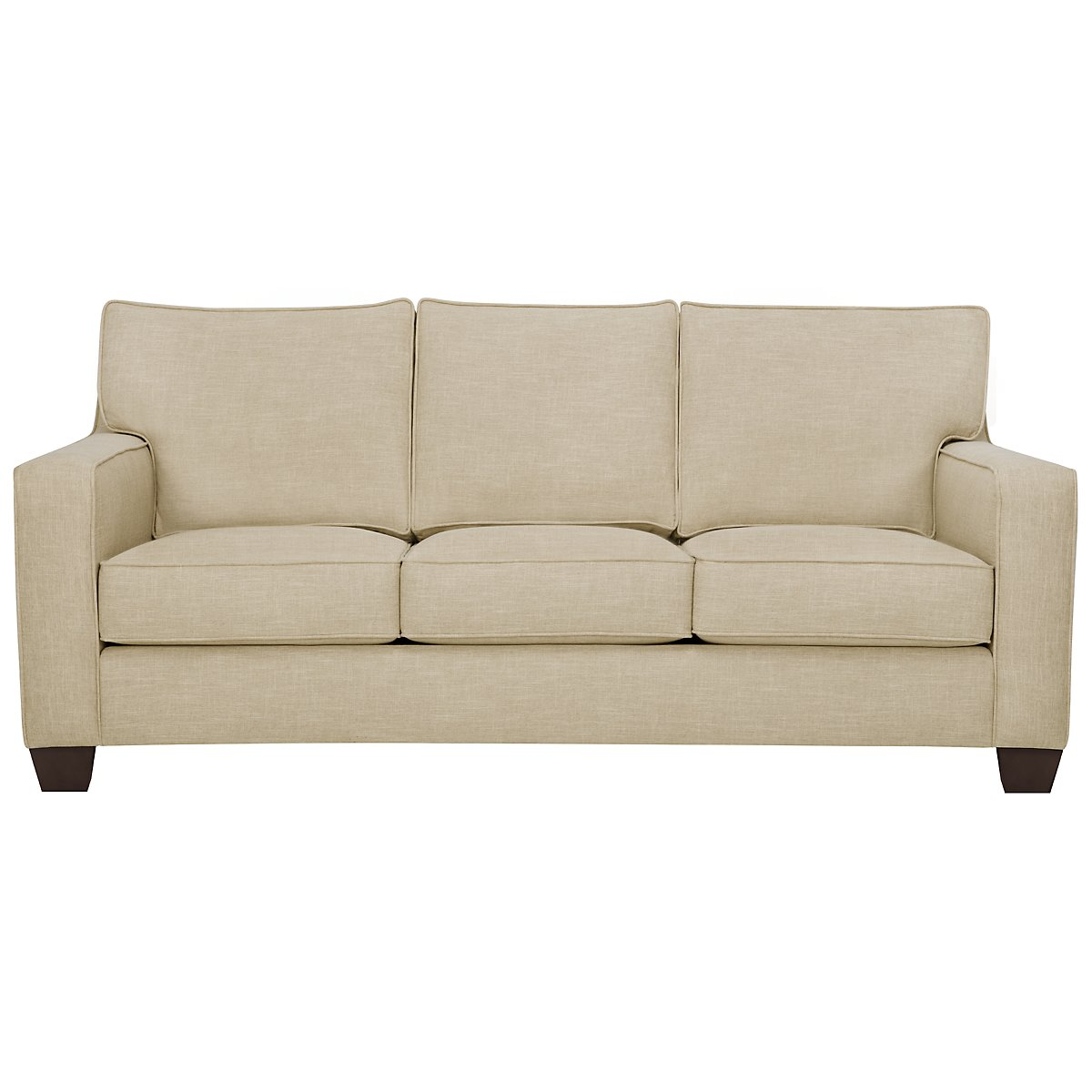 York Beige Fabric Sofa