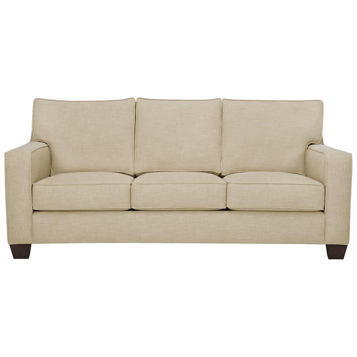 City Furniture York Beige Fabric Sofa