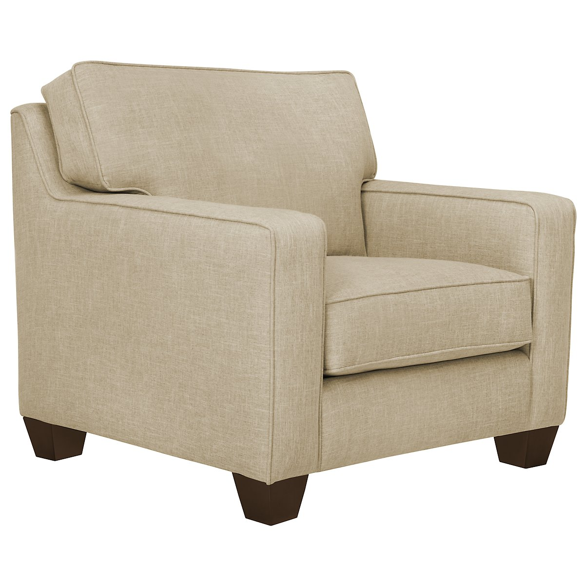 York Beige Fabric Chair