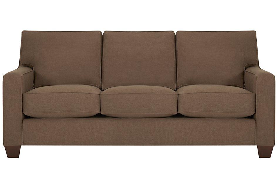 York Dark Brown Fabric Sofa | Living Room - Sofas | City ...