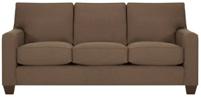 Image Of York Dark Brown Fabric Sofa With Sku:4706820