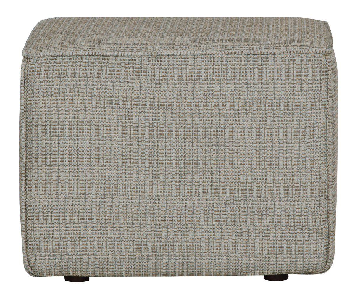 Jackie Teal Fabric Accent Pouf