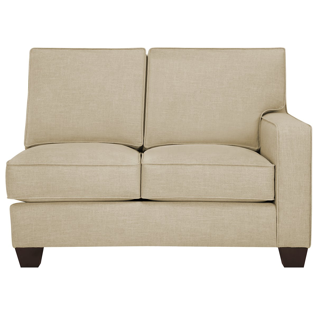 City furniture york beige fabric small left chaise sectional for Beige sofa with chaise