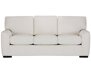 Austin White Fabric Sofa