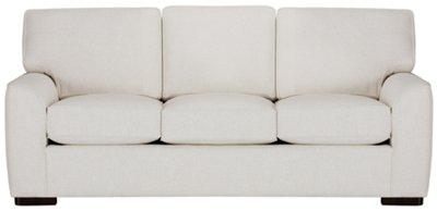 Elegant Austin White Fabric Sofa