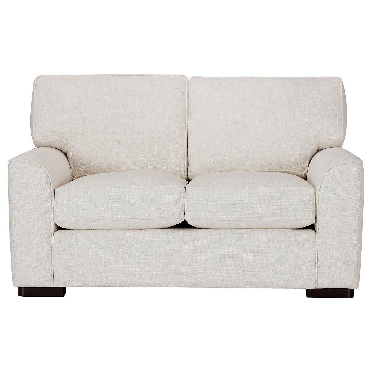 Austin White Fabric Loveseat