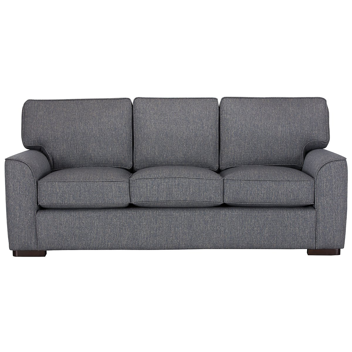 Austin Blue Fabric Sofa | Living Room - Sofas | City Furniture