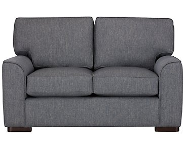 Austin Blue Fabric Loveseat