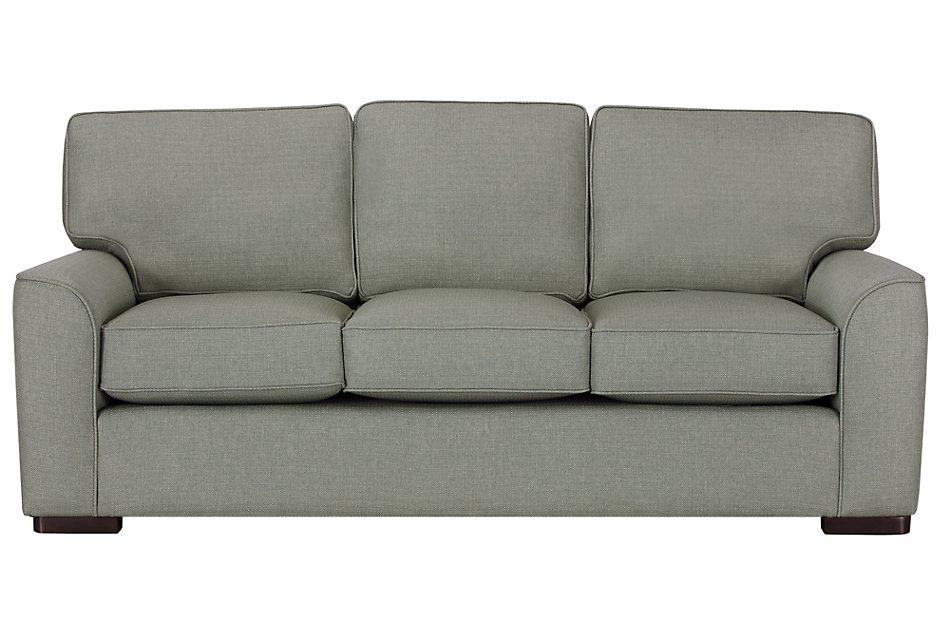 Austin Green Fabric Sofa | Living Room - Sofas | City Furniture