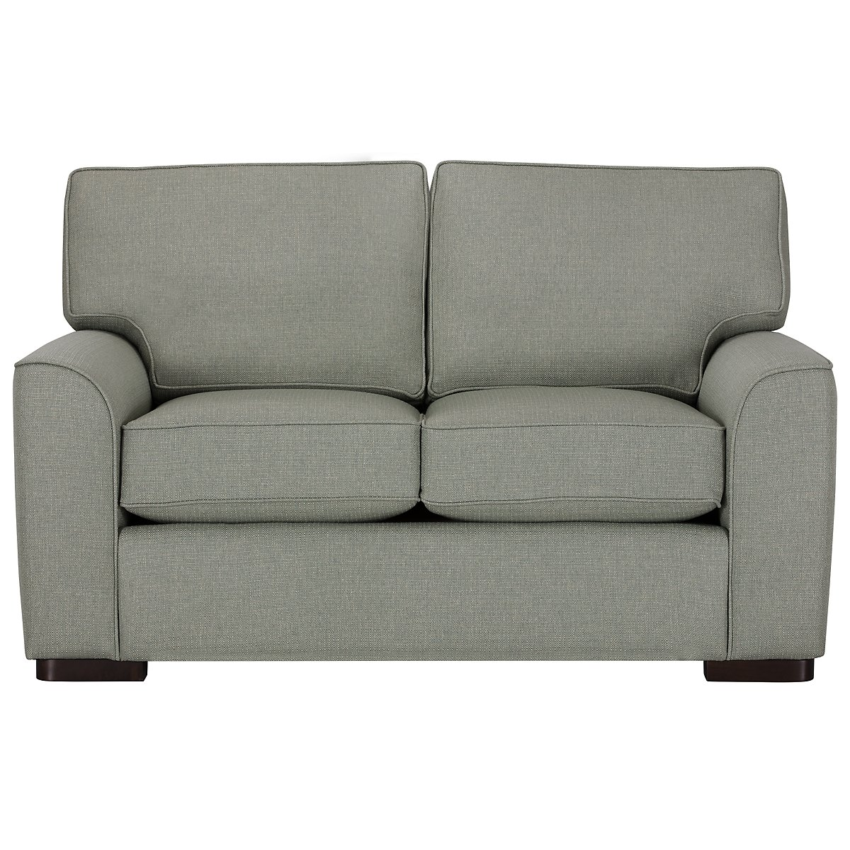 Austin Green Fabric Loveseat