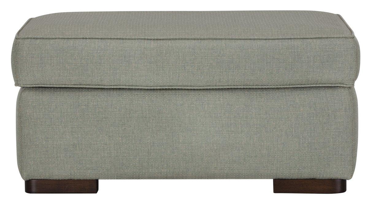 Austin Green Fabric Ottoman
