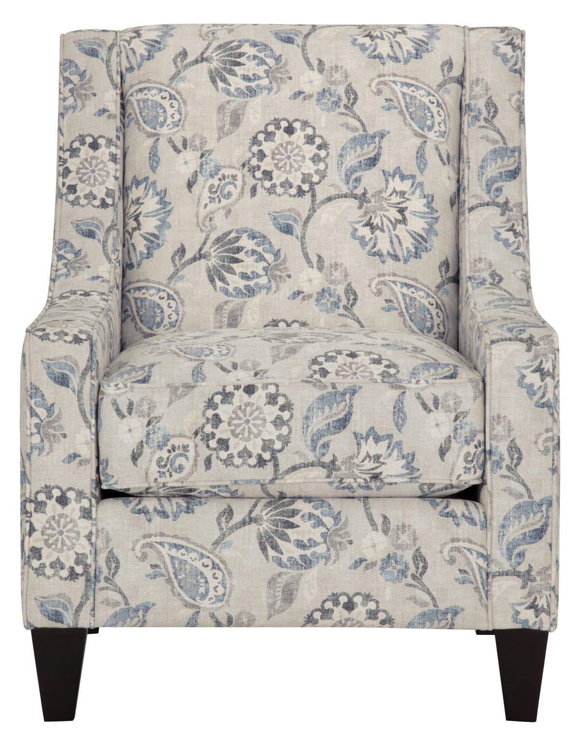 Sylvie Blue Fabric Accent Chair