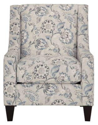 Sylvie Blue Floral Accent Chair View Larger