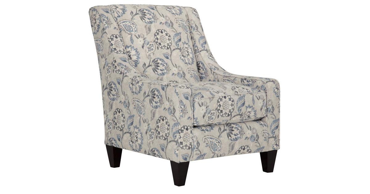 City Furniture Sylvie Blue Floral Accent Chair