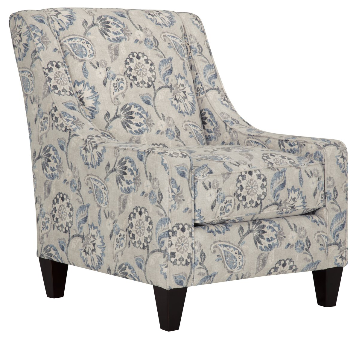 Sylvie blue fabric accent chair