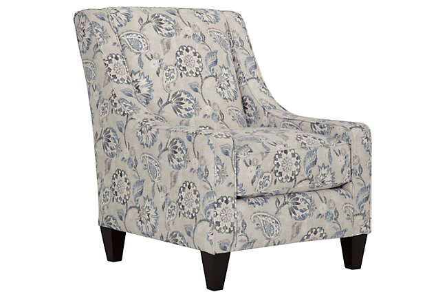 Enjoyable Soledad Blue Fabric Accent Chair Home Accents Accent Machost Co Dining Chair Design Ideas Machostcouk
