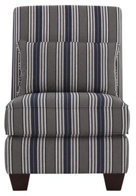 Amuse Blue Stripe Accent Chair. VIEW LARGER