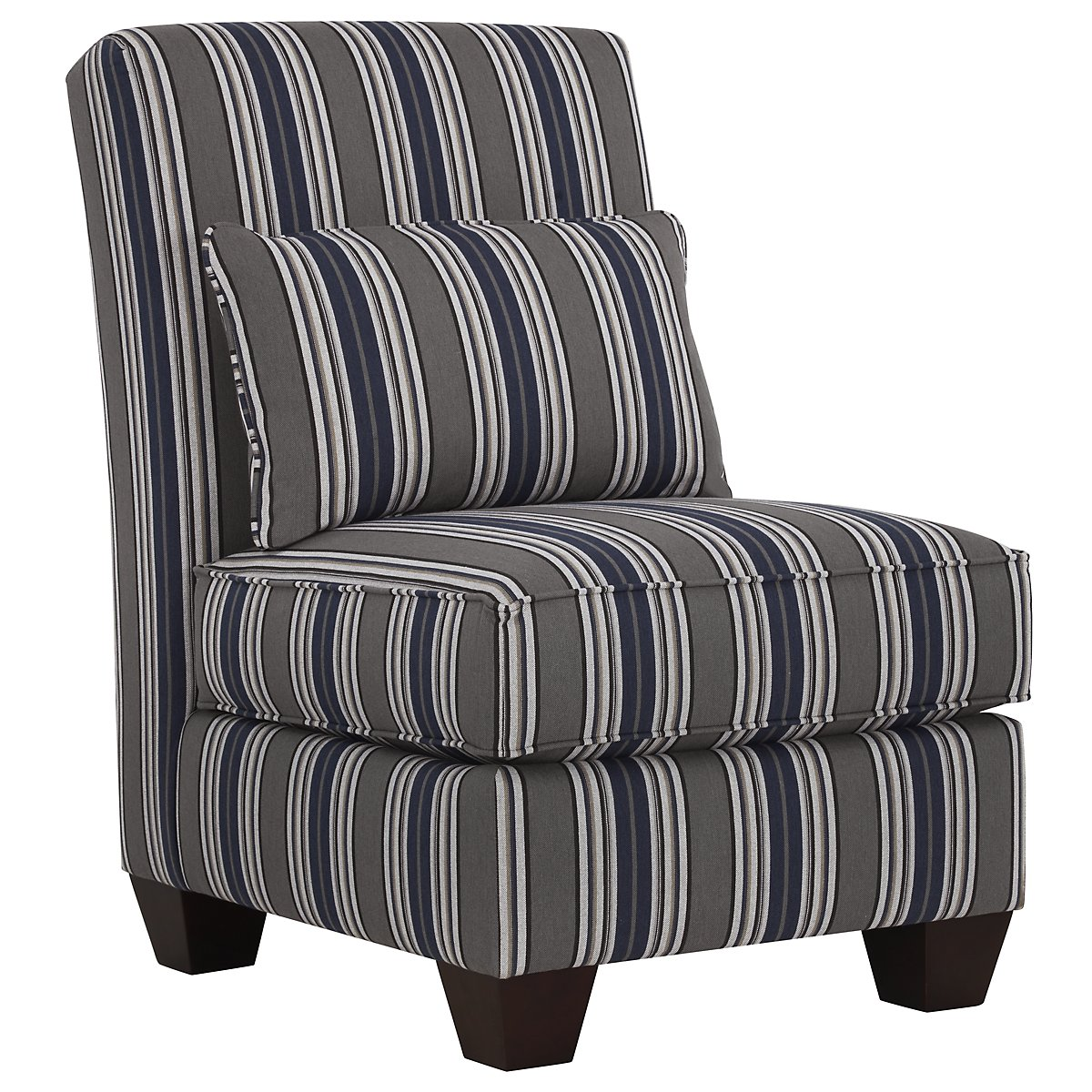 Amuse Blue Fabric Accent Chair