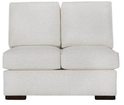 austin white fabric medium left chaise sectional