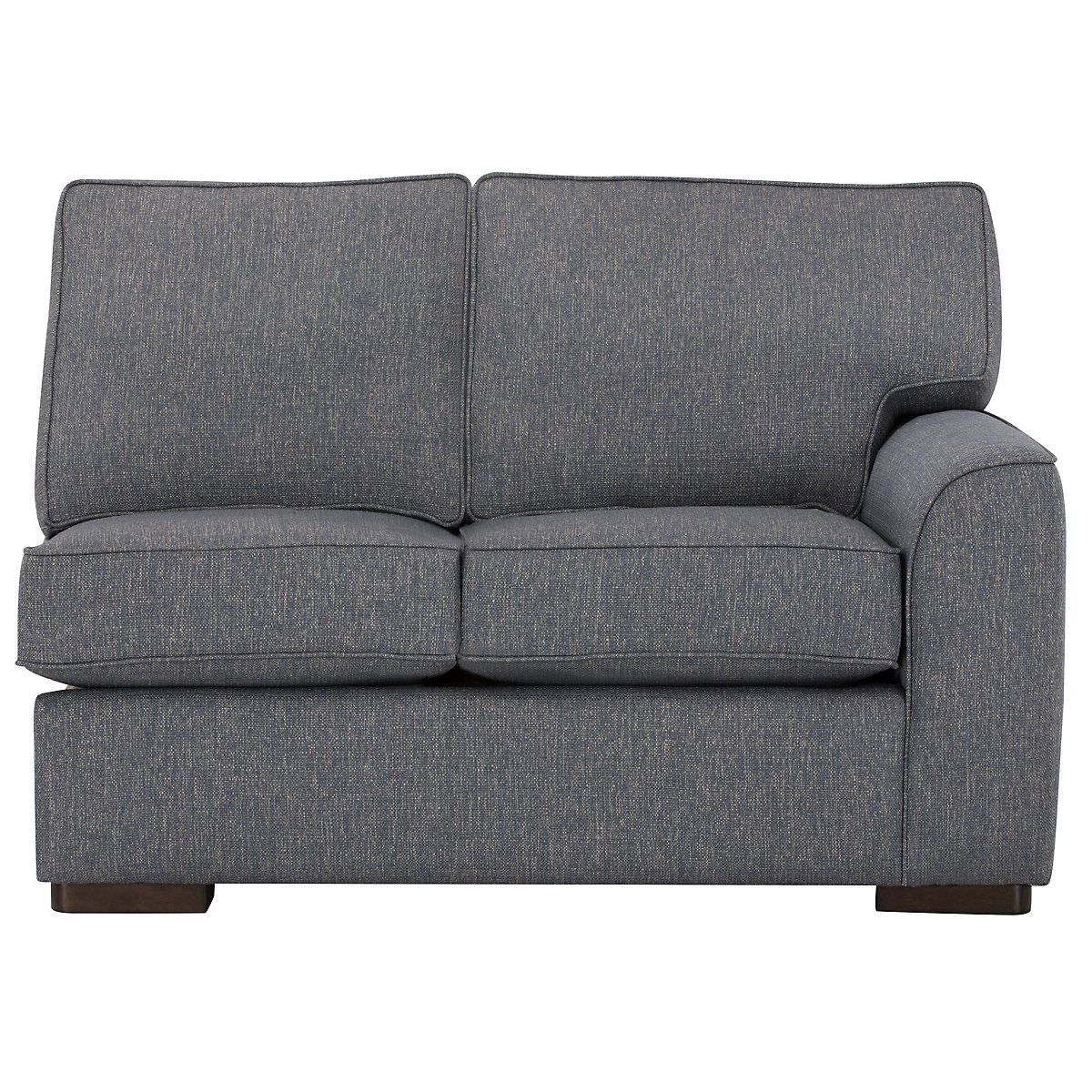 City Furniture Austin Blue Fabric Left Chaise Sectional - Austin sectional sofa