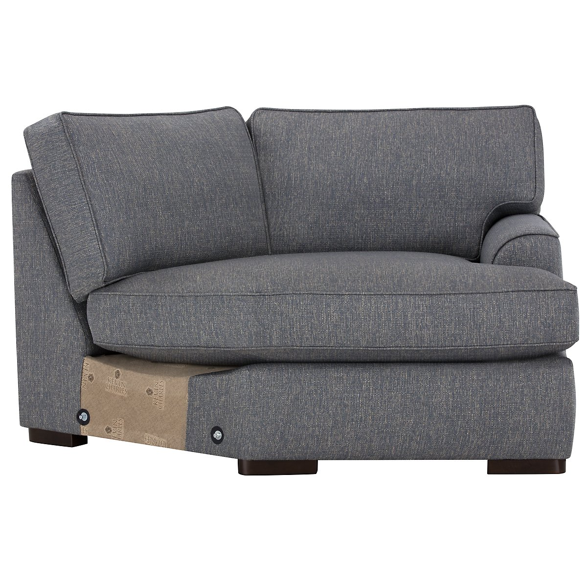 Free Furniture Austin: City Furniture: Austin Blue Fabric Small Right Cuddler
