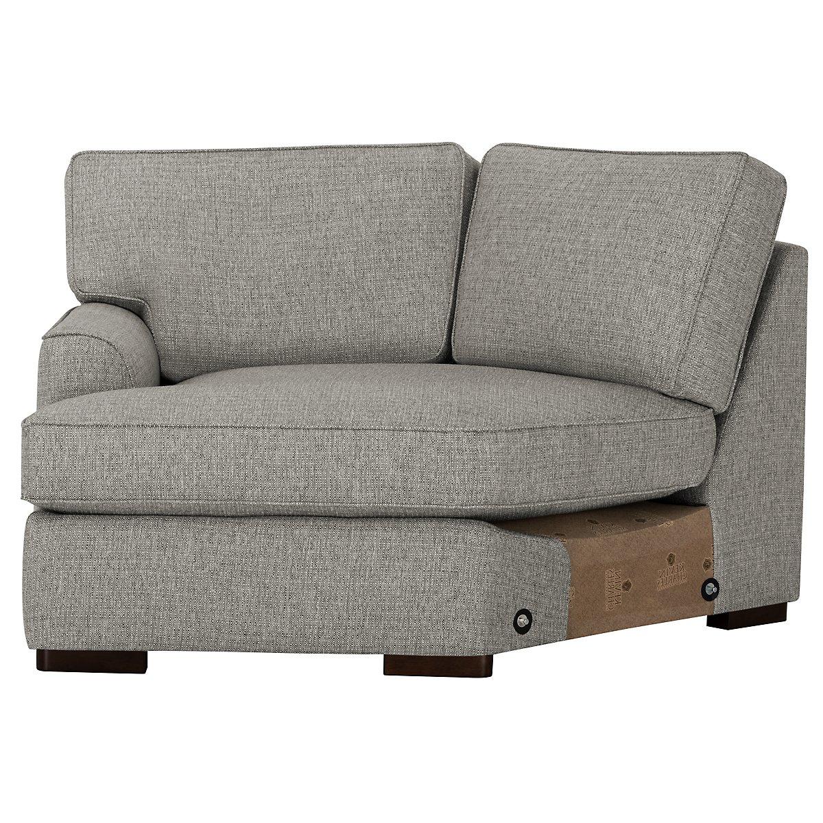 City Furniture: Austin Gray Fabric Dual Cuddler Sectional