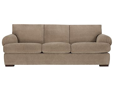 Belair Dark Taupe Fabric Sofa