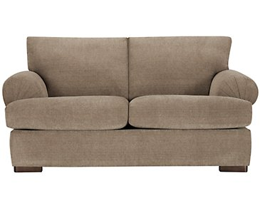 Belair Dark Taupe Fabric Loveseat