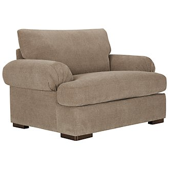 Belair Dark Taupe Fabric Large Chair