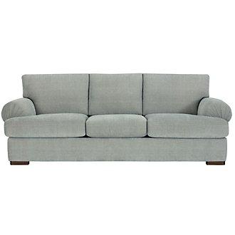 Belair Light Blue Fabric Sofa