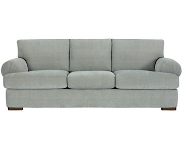 Belair Light Blue Fabric Sofa