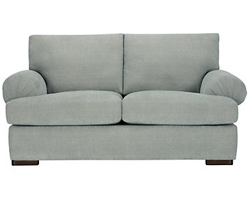 Belair Light Blue Fabric Loveseat