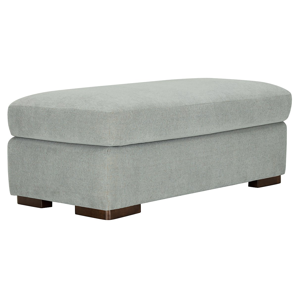 Belair Light Blue Fabric Large Ottoman