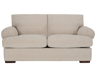 Belair Light Taupe Fabric Loveseat