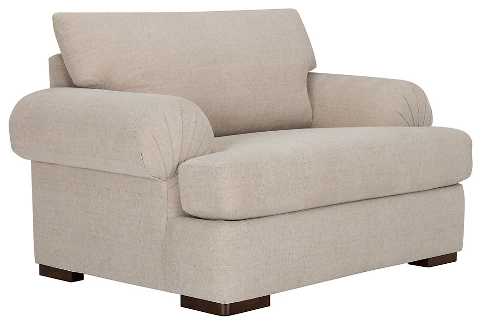 Belair Light Taupe Fabric Large Chair | Living Room - Chairs ...