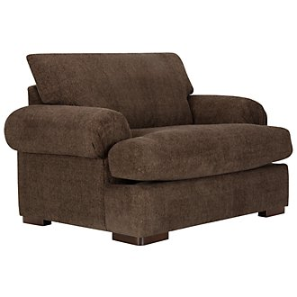 Belair Dark Brown Fabric Large Chair