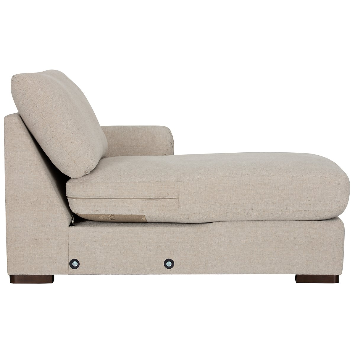 City Furniture: Belair Lt Taupe Microfiber Small Right Chaise Sectional