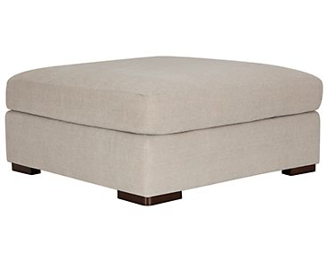 Belair Light Taupe Fabric Cocktail Ottoman