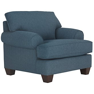 Quinn Blue Fabric Chair